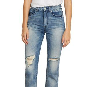Habitual pace distressed straight leg jeans